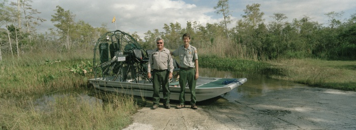 John and Jimi by the Airboat, 2007